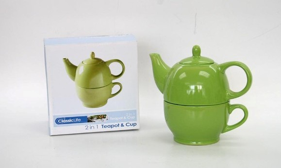 CK1103 CERAMIC 2 IN 1 TEAPOT (15OZ) &CUP (13OZ)
