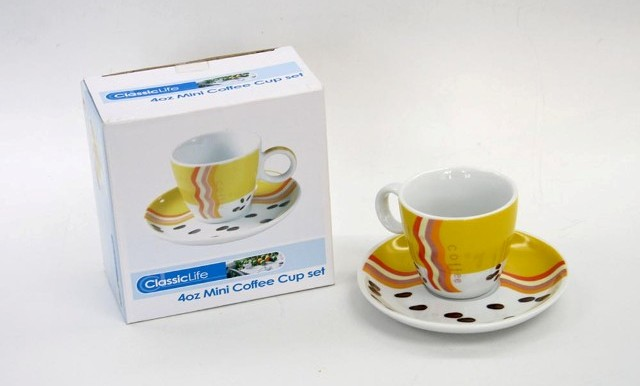 CK1117 4OZ MINI CERAMIC COFFEE CUP SET