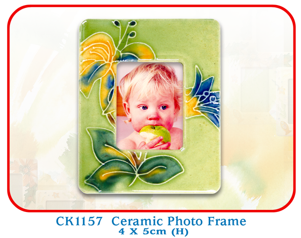 CK1157 Ceramic Photo Frame 4 X 5cm (H)