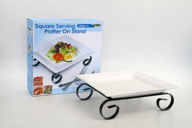 CK1208 SQUARE SERVING PLATTER ON SLAND