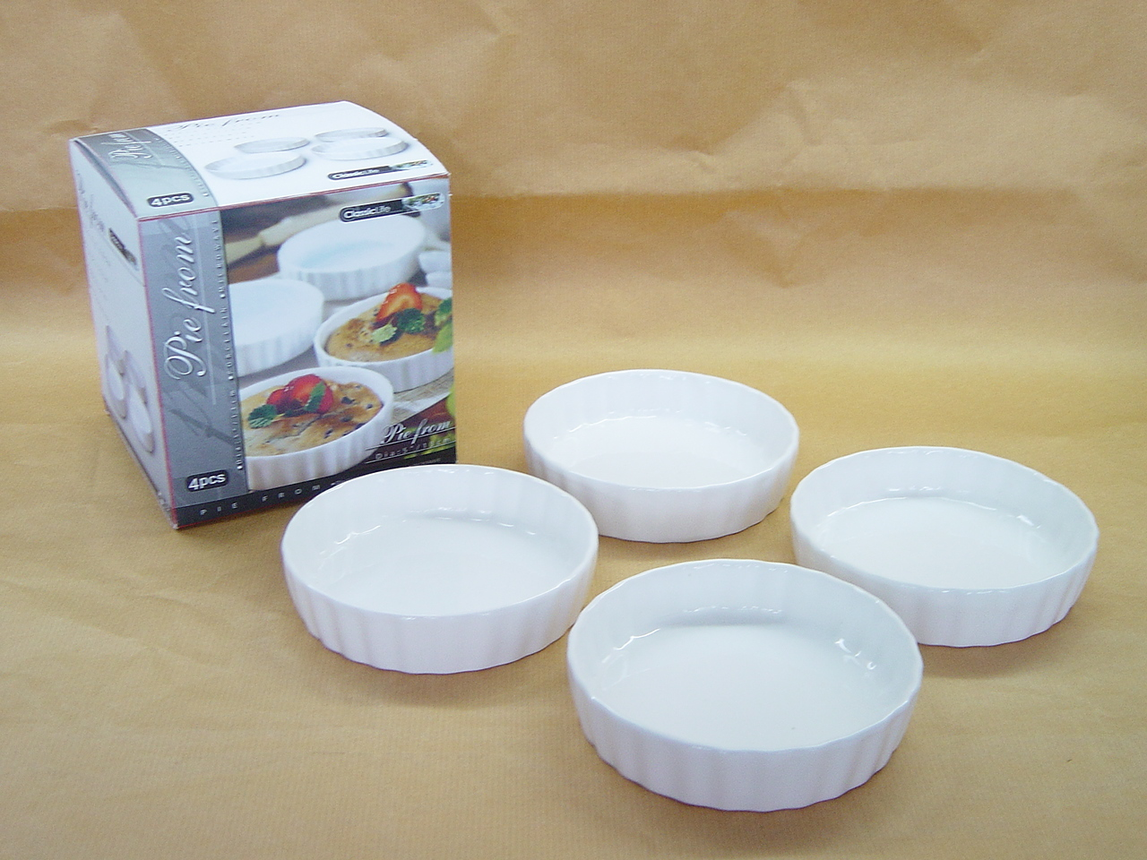 CK1216/4 SET OF 4 PCS ROUND DISH