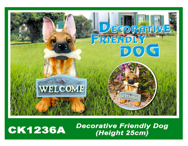 CK1236A Decorative Friendly Dog (Height 25cm)