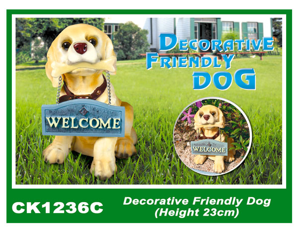 CK1236C Decorative Friendly Dog (Height 23cm)