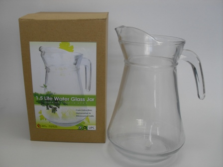 CK1271 1.5LITER WATER GLASS JAR (SIZE:14.5CM DIA X 22CM H)