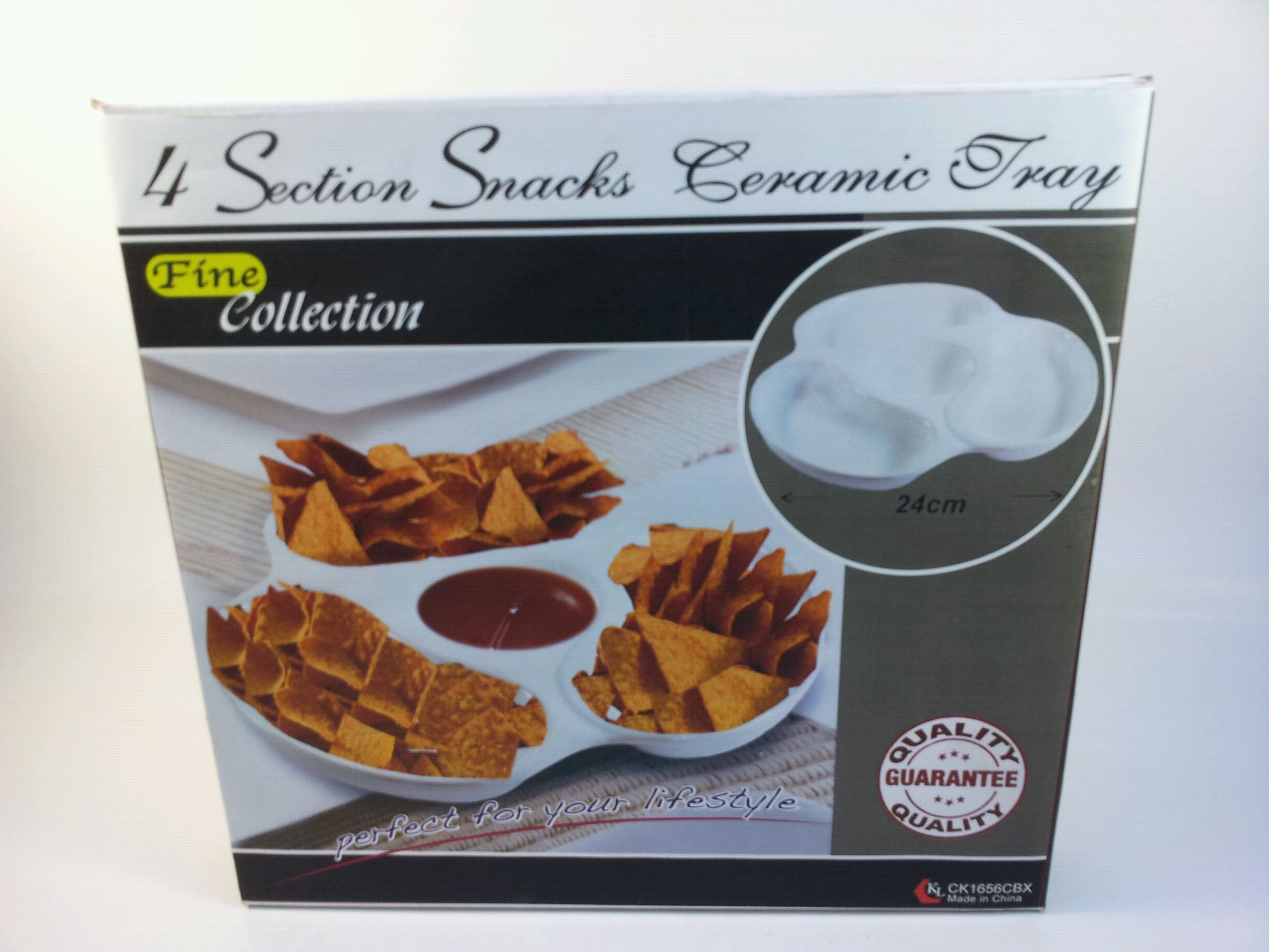 CK1656 4 SECTION SNACK AND SAUCE DISH