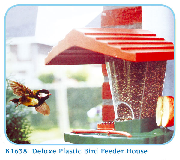 K1638 Deluxe Plastic Bird Feeder House