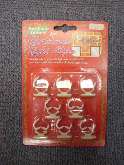 K1654 8PCS CHRISTMEA LIGHT CLIPS