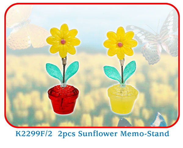 K2299F/2 2pcs Sunflower Memo-Stand