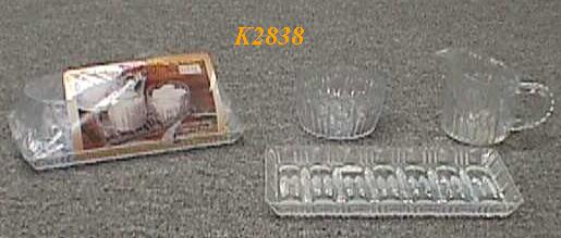 K2838 MILK & SUGAR JAR W/TRAY SET