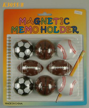 K3055/8 S/8 SPORT BALL MAGNET MEMO HOLDER
