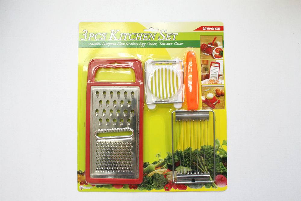 K2353+4+9 3IN1 GRATER+TOMATO SLICER+EGG SLICER SET