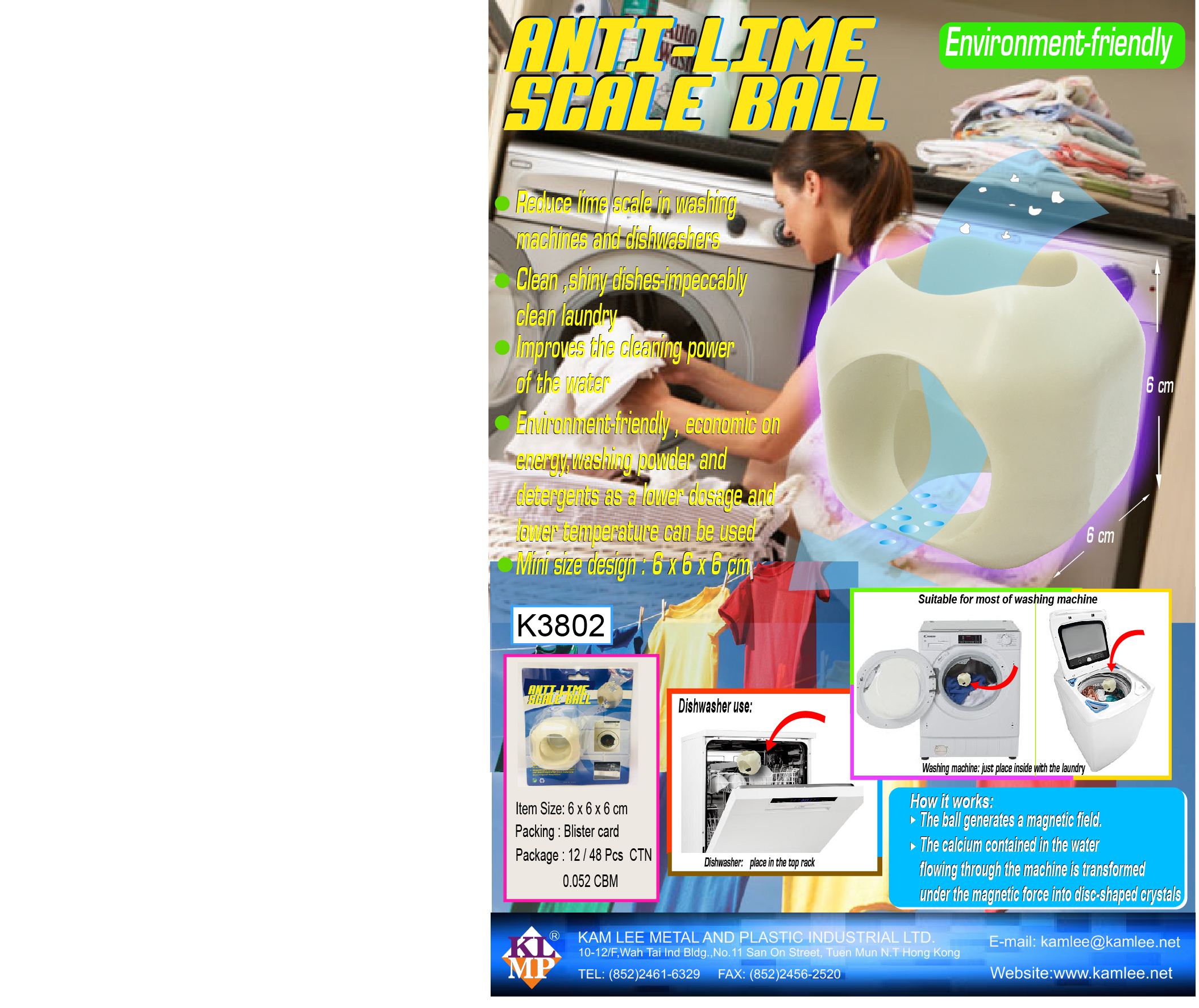 K3802 ANTI-LIME SCALE WASHING BALL