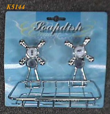 "K5144 "" FAUCET"" DESIGN SOAPDISH W/2 SUCTION CUPS"