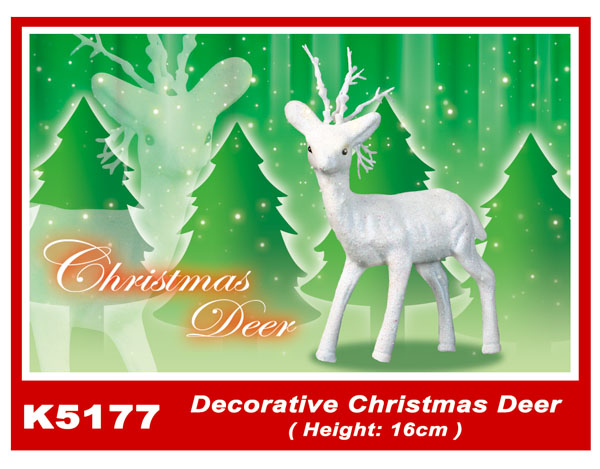 K5177 Decorative Christmas Deer (Height: 16cm)