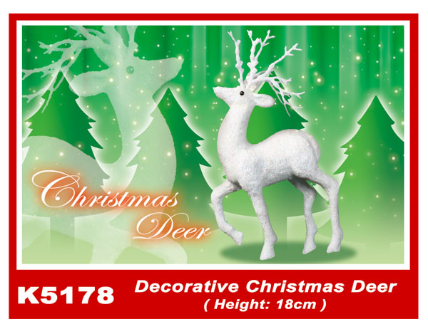 K5178 Decorative Christmas Deer (Height: 18cm)
