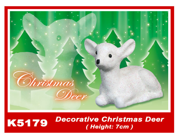 K5179 Decorative Christmas Deer (Height: 7cm)