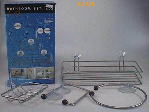K5338 4PCS METAL WIRE BATHROOM SETS (W/EASY-FIX POWERFUL SUCTIO