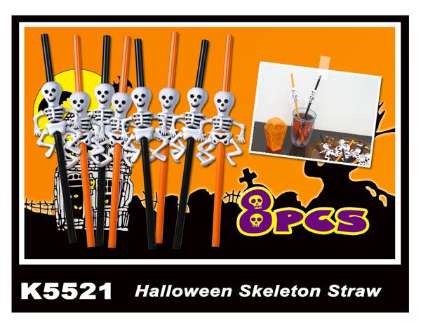 K5521 Halloween Skeleton Straw