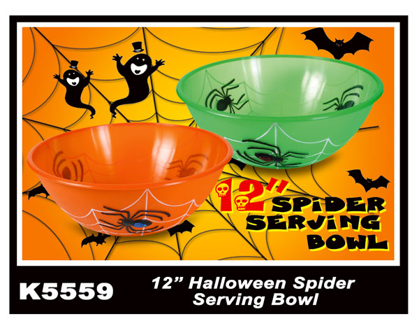 K5559 12'' Halloween Spider Serving Bowl