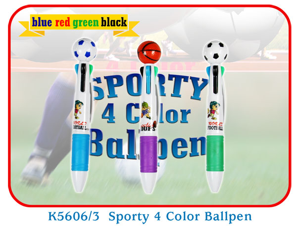 K5606/3 Sporty 4 Color Ballpen