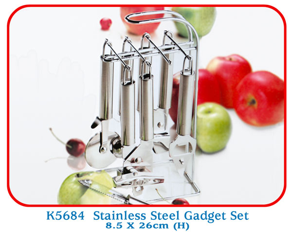 K5684 Stainless Steel Gadget Set 8.5 X 26cm (H)