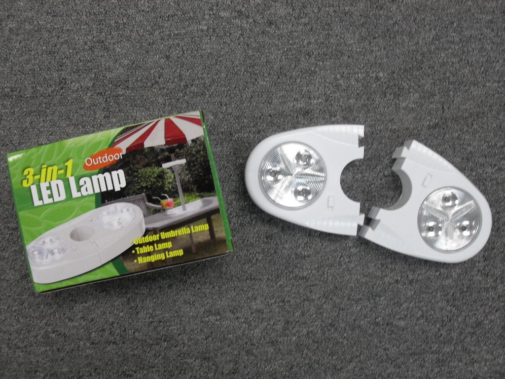 K6095/2 (S/2)3 IN 1 LED LAMP W/UMBRELLA HOLDER
