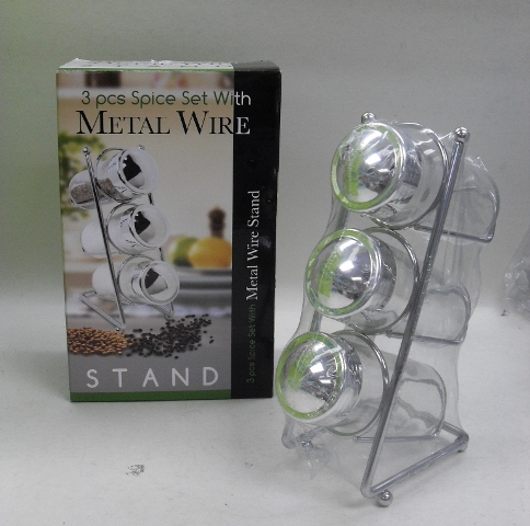 K6161 3 PCS SPICE SET W/METAL WIRE STAND