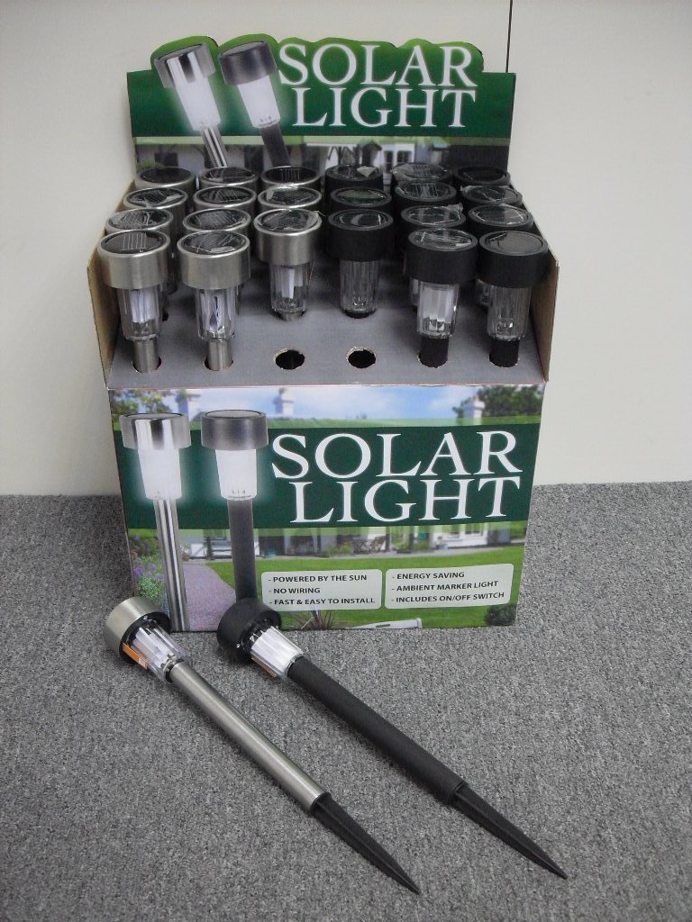 K6168+6169 SOLAR LED LIGHT ROD (S.S) W/PLASTIC POLE