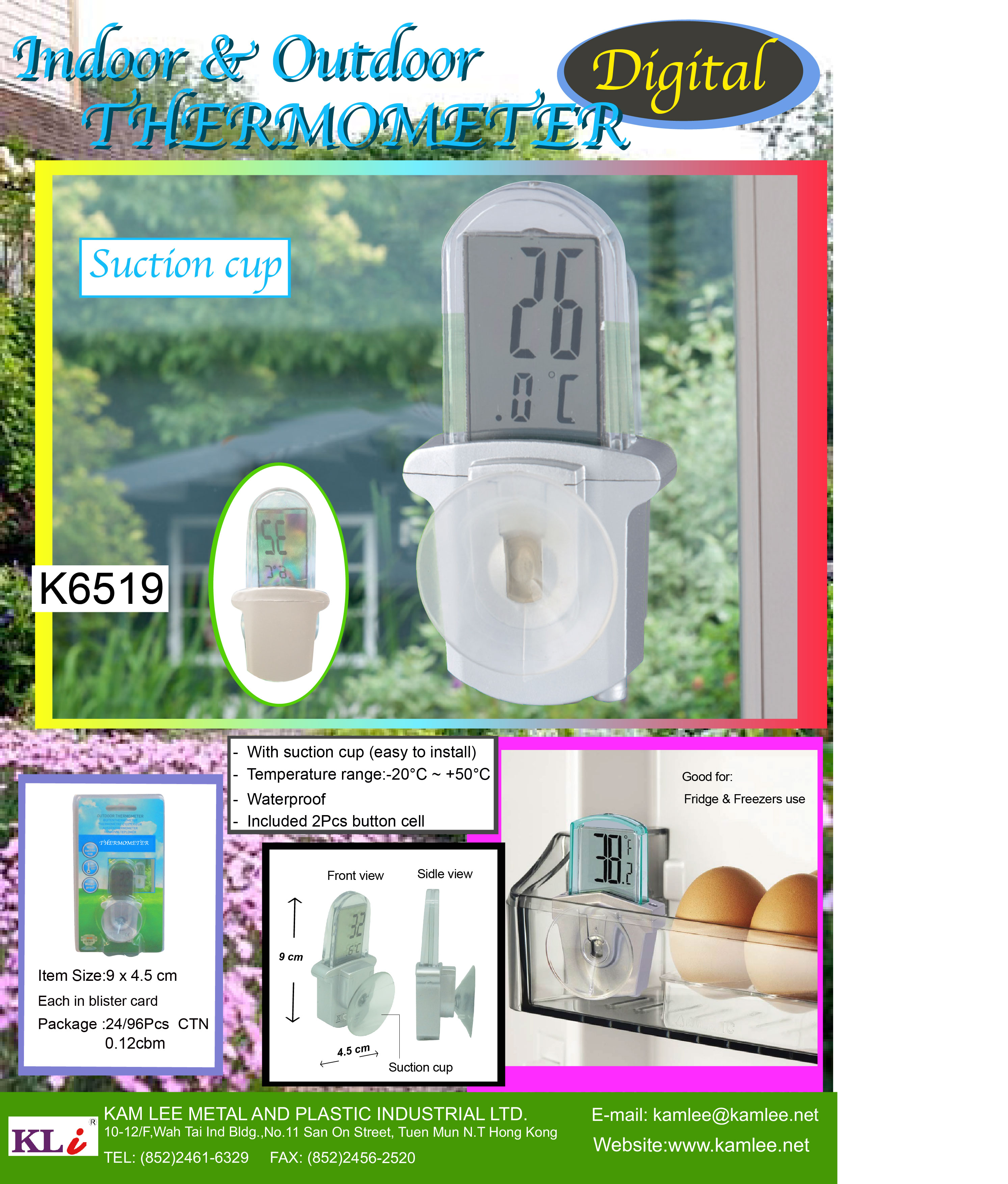 K6519 LCD THERMOMETER