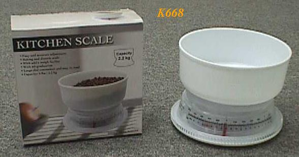 K668 Kitchen Scale 16 dia. X 13.5cm (H)