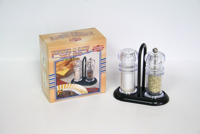 K6813T PEPPER & SALT SET W/TRAY