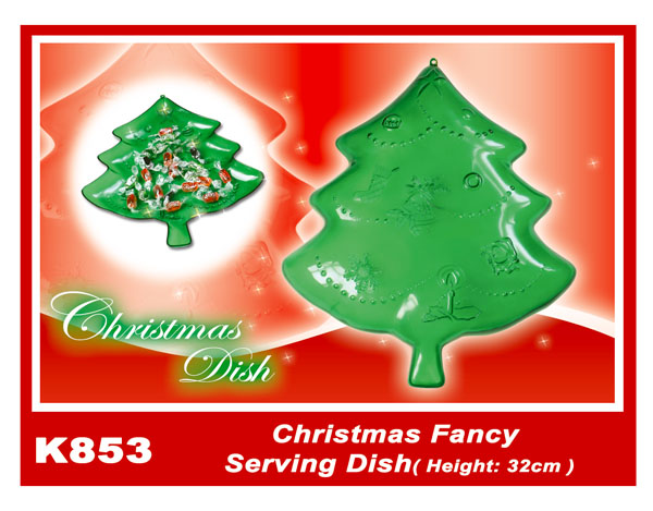 K853 Christmas Fancy Serving Dish (Height:32cm)