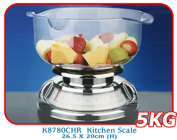 K8780CHR Kitchen Scale 26.5 X 20cm (H)