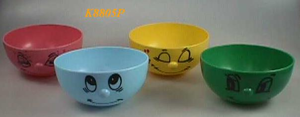 k8805*4 PLASTIC FUNNY BOWL (SET OF 4 )