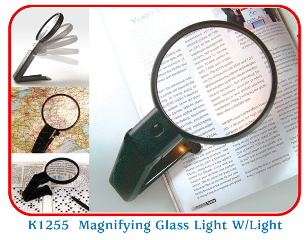 K1255 Magnifving Glass Light W/Light