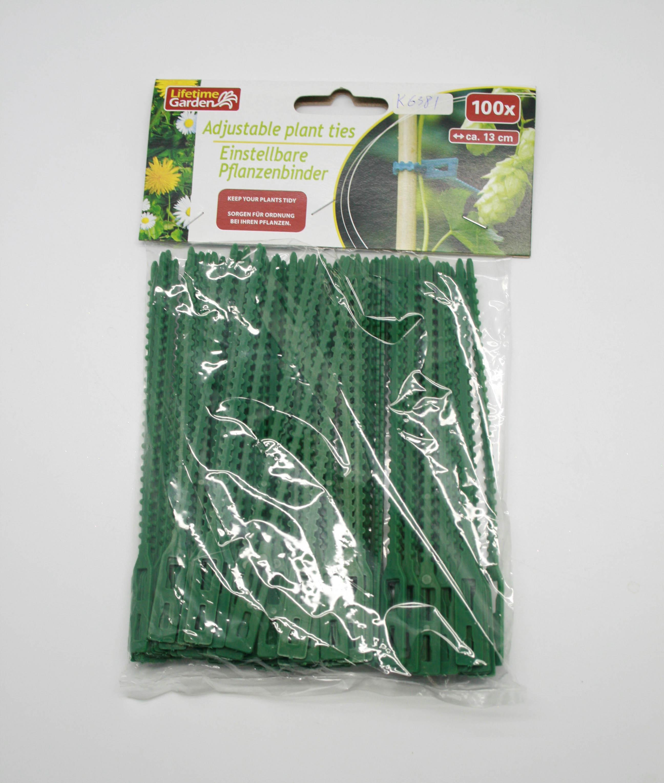 K6381 PLASTIC ADJUSTABLE PLANT TIES (100 PCS) [K6381] - US
