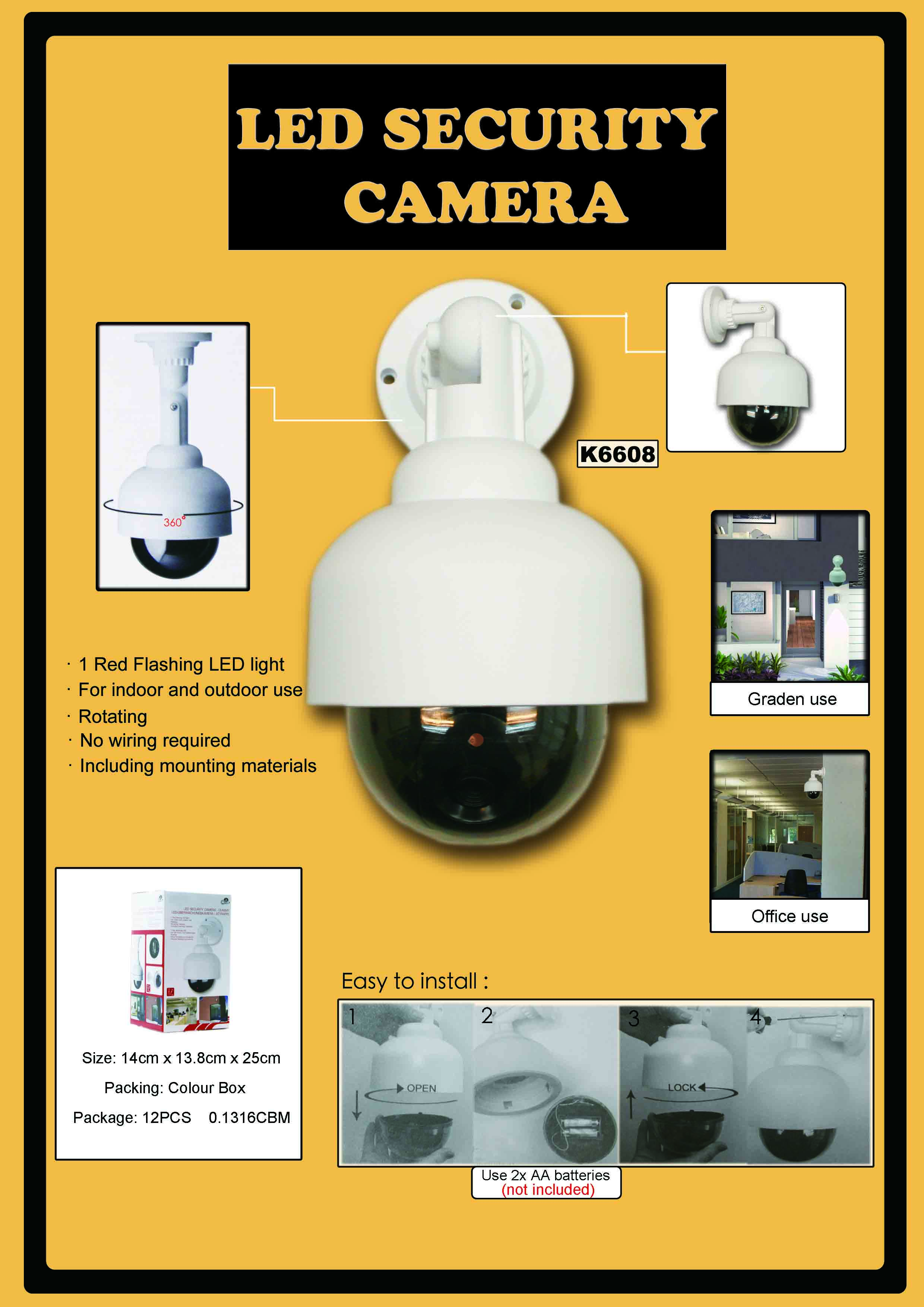 K6608 LED SECURITY DUMMY CAMERA