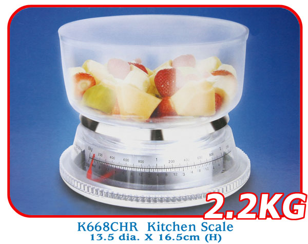 K668CHR Kitchen Scale 13.5 dia. X 16.5cm (H)